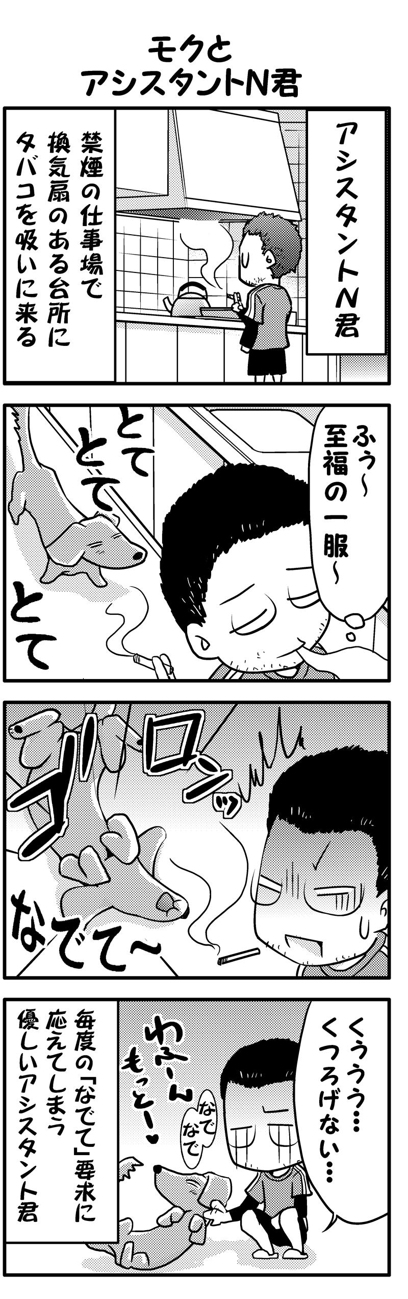 モクとアシスタントN君(前)